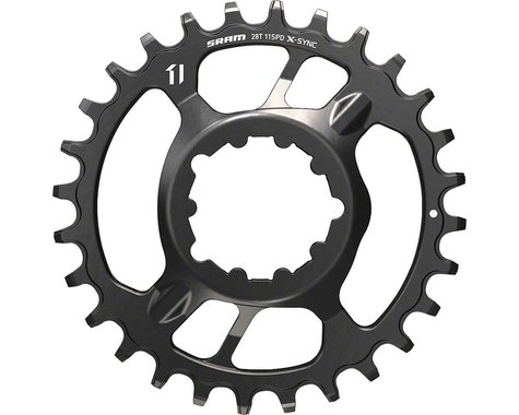 SRAM X-Sync Steel Direct Mount Chainring (Black) (3mm Offset (Boost)) (28T)