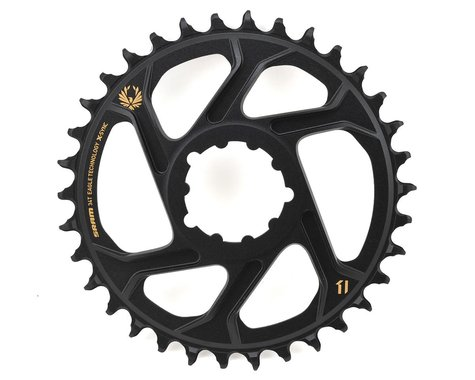 SRAM X-Sync 2 Eagle Direct Mount Chainring (Black/Gold) (6mm Offset) (34T)