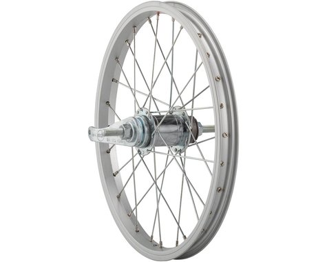 """Sta-Tru Rear Wheel (Silver) (16"""") (Coaster Brake) (28 Spokes) (Steel Rim) (Bolt-On Axle)"""