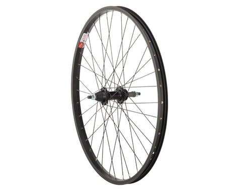 """Sta-Tru Rear Wheel (Black) (24"""" x 1.5"""") (Solid Axle) (36 Spokes) (5-8 Speed Freewheel)"""