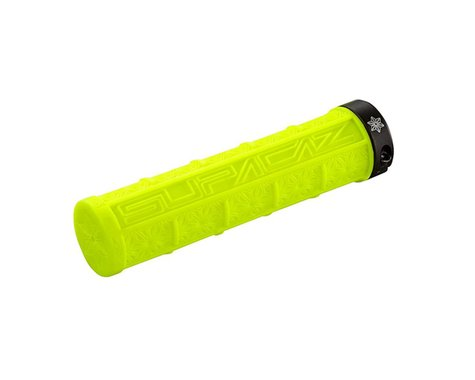 Supacaz Lock-On Grizips Grips (Neon Yellow/Black) (135mm)