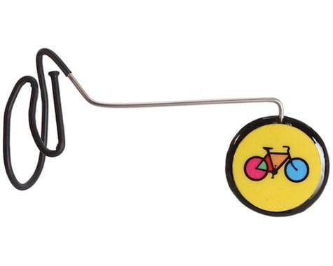 Tiger Eye Helmet Mount Mirror (Yellow Bike)