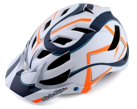 Troy Lee Designs A1 MIPS Youth Helmet (Welter White/Marine) (Universal Youth)