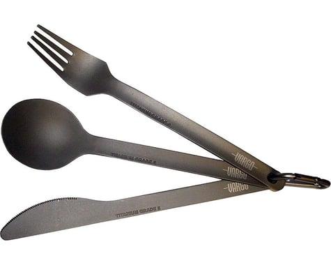 Vargo Titanium Spoon-Knife-Fork Set (Titanium)