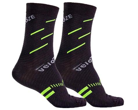 VeloToze Active Compression Wool Socks (Black/Yellow) (S/M)