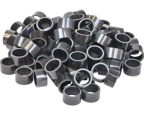 """Wheels Manufacturing 1-1/8"""" Carbon Headset Spacers (Black) (100) (15mm)"""