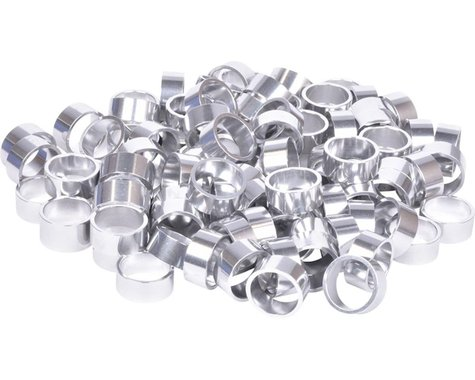 """Wheels Manufacturing Bulk Headset Spacers (Silver) (1-1/8"""") (Bag of 100) (15mm)"""