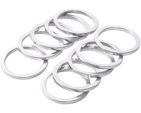 """Wheels Manufacturing 1"""" Headset Spacer (Silver) (10) (2.5mm)"""