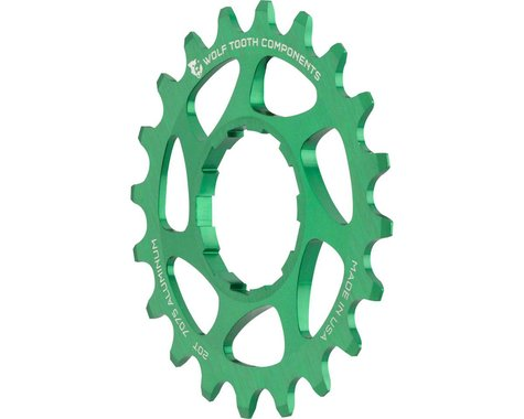 Wolf Tooth Components Single Speed Aluminum Cog (Green) (20T)