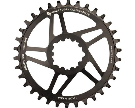 Wolf Tooth Components Direct Mount GXP Drop-Stop Chainring (Black) (6mm Offset) (30T)