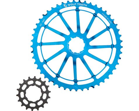 Wolf Tooth Components GC49 (Blue) (49T Cog & 18T Cog) (For SRAM NX Cassettes)