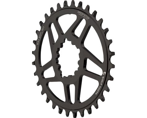 Wolf Tooth Components PowerTrac Drop-Stop GXP Oval Chainring (Black) (3mm Offset (Boost)) (32T)