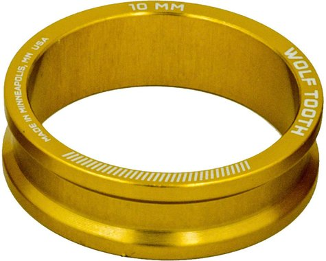 """Wolf Tooth Components 1-1/8"""" Headset Spacers (Gold) (5) (10mm)"""