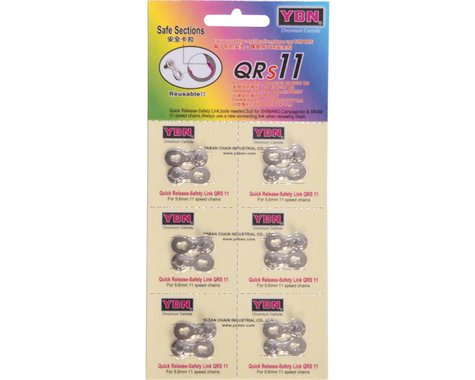 YBN QRS Reusable Quick Links (Silver) (11 Speed) (6)