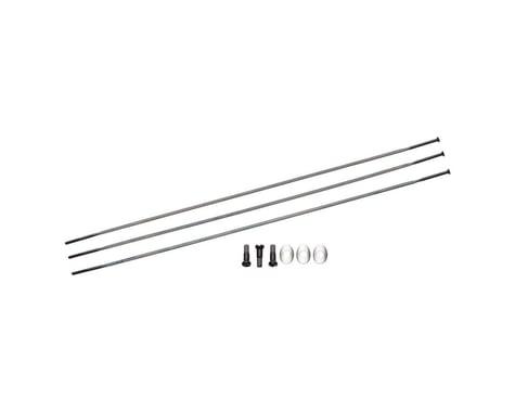 Zipp Sapim Straight Pull Spokes & Nipples (Black) (CX-Ray) (272mm)